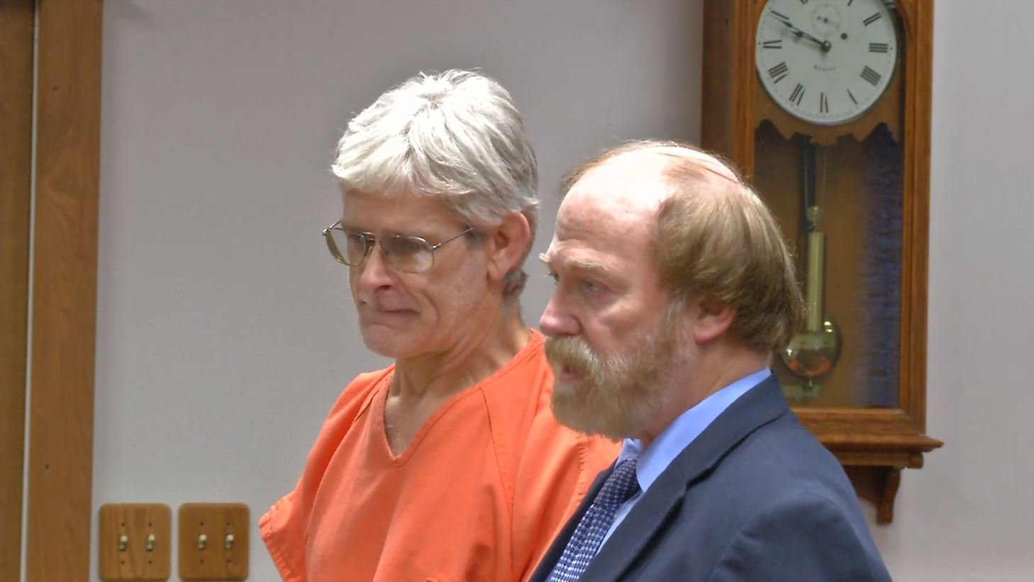 53-year-old David Wayne Nelson, left, appeared in Ravalli County District Court Wednesday. (MTN News photo)