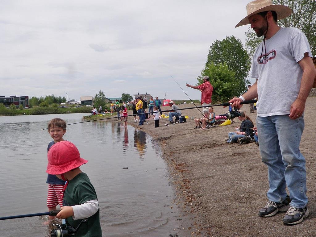 Rotary kids fishing day saturday may 21 krtv news in for Is today a good fishing day