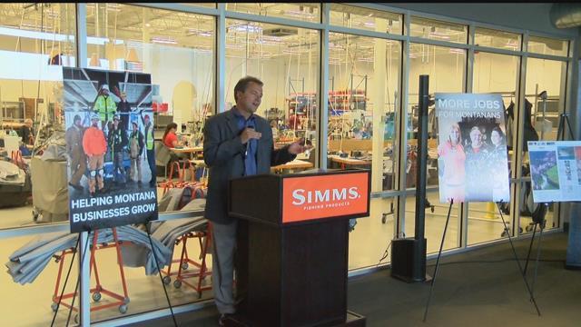 Gov bullock pitches job creation proposals at bozeman for Simms fishing jobs