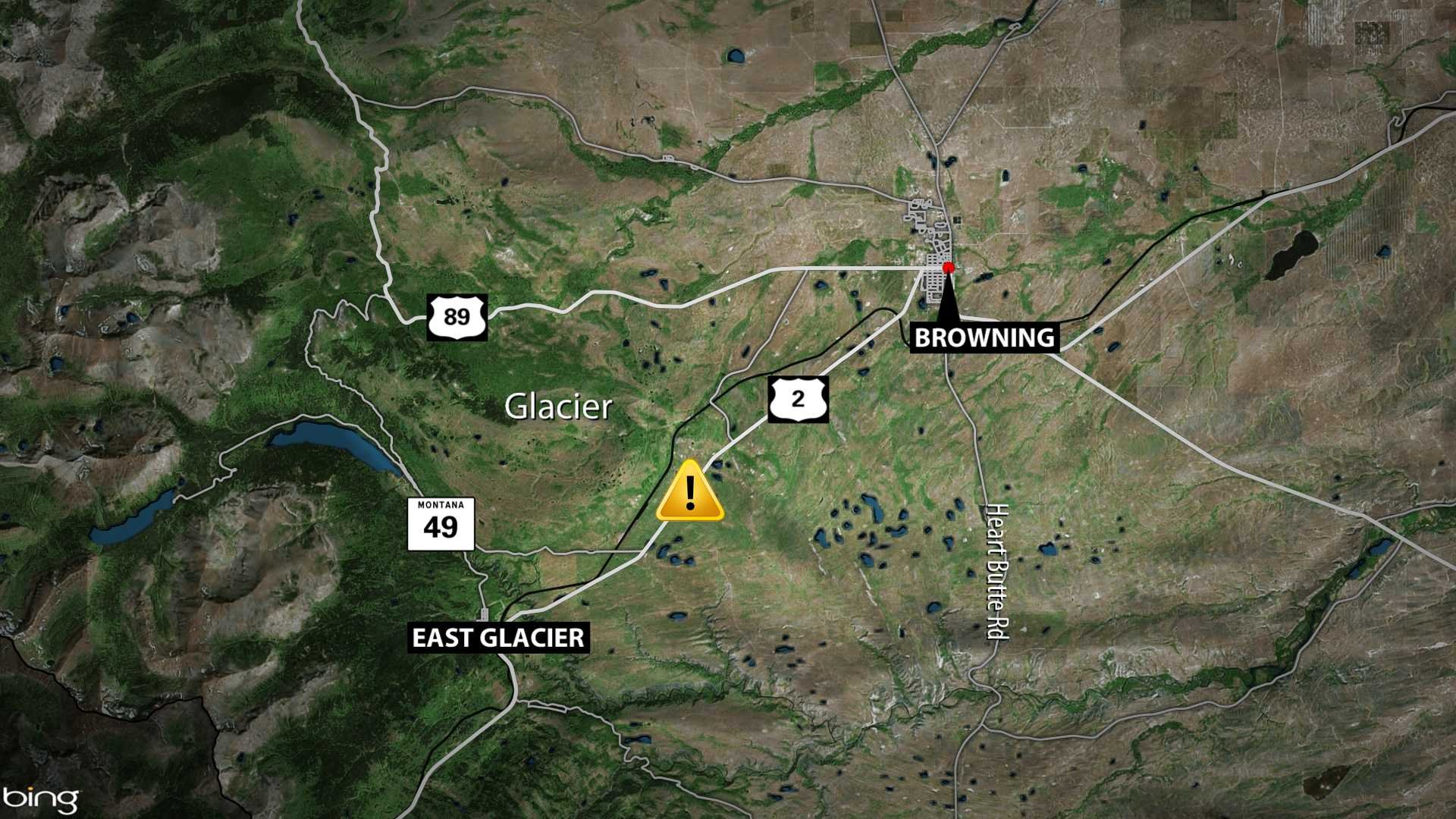 Fatal crash reported overnight in Glacier County - KBZK com