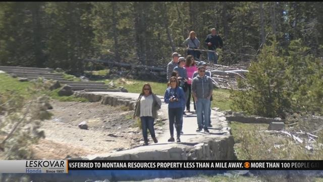 As millions of visitors pour into yellowstone park for Bison motors great falls mt