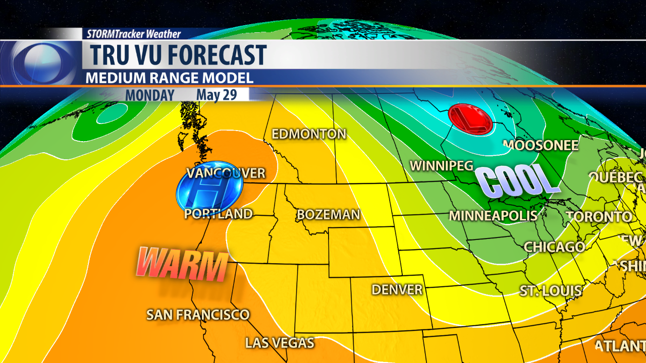 Extended Forecast For Butte Through Memorial Day Weekend KTVQ - 10 day weather map of western us