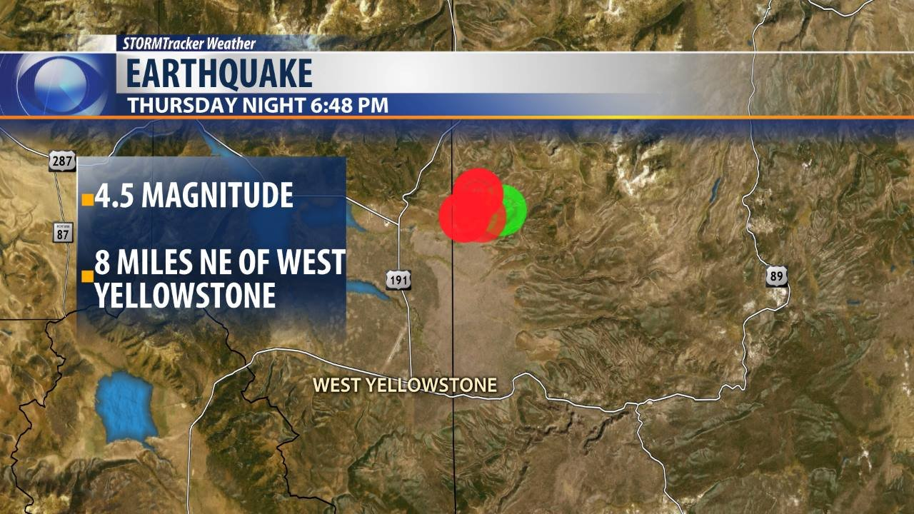Pair of earthquakes rattle West Yellowstone area  KBZKcom