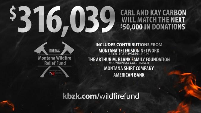 Montana Wildfire Relief Fund Grows To 316 039 Kbzk Com