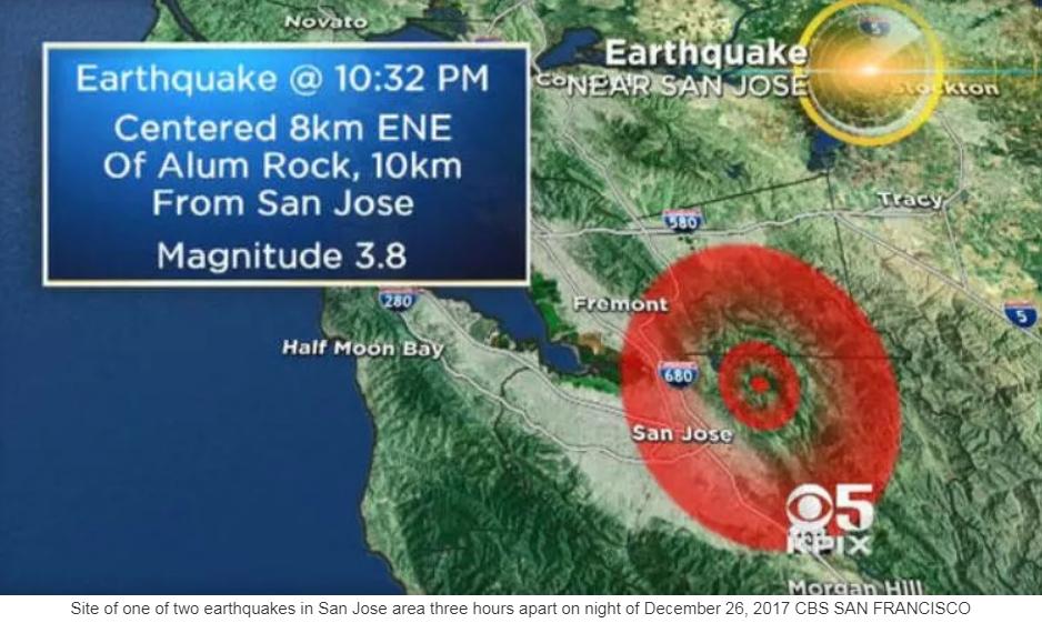 Two earthquakes shake San Jose area hours apart KXLFcom