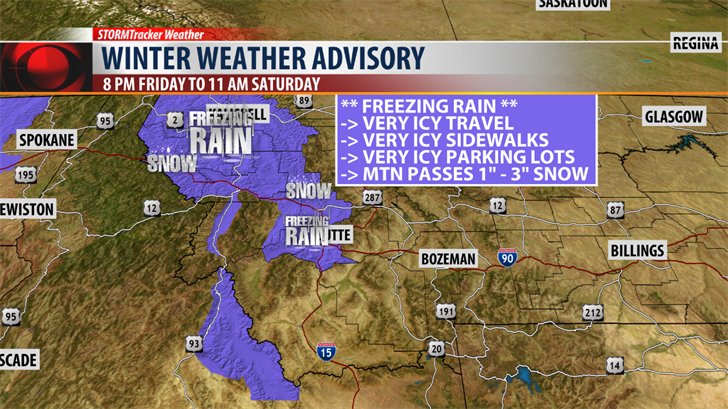 Weather Related Travel Concerns Tonight Into Saturday - KRTV