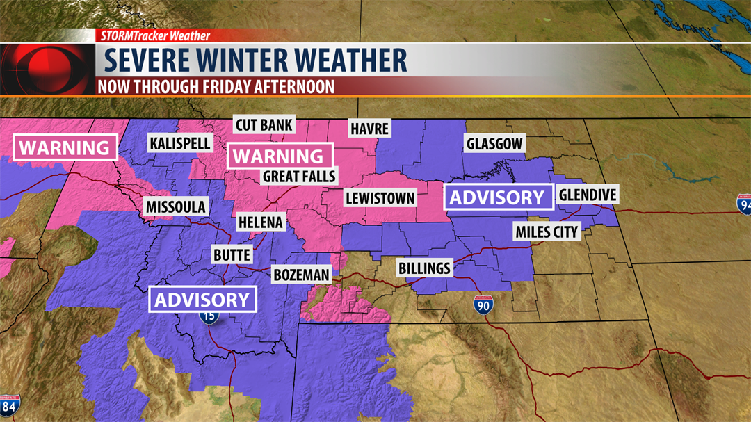 Severe Winter Weather Impacts For Montana Tonight